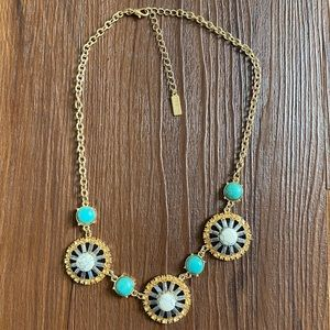Baublebar gold blue turquoise white necklace